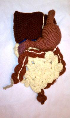 Crochet Push Digestive System by AnOptimisticCynic on Etsy, $80.00