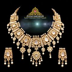 Home - Jadau Wedding Necklace Set, Ring Necklace, Earrings, Bridal Jewelry, Gold Jewelry, Jewellery, Polki Sets, Uncut Diamond, Pendant Set