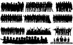 People Crowds Vectors [EPS-SVG-AI Files]