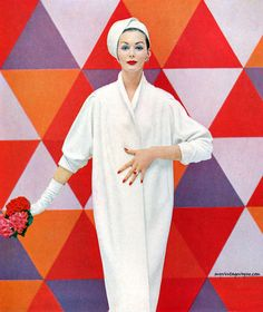 La Vigna 1957. white coat with 3/4 length sleeves. Why was this ever a trend? Just the look? Winter is cold.