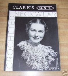 1935 crochet neckwear - #vintage #crochet from the 1930's - #craft #history