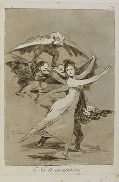 You will not escape - Francisco Goya 1799 Francisco Goya, Spanish Artists, Art Database, Henri Matisse, Gravure, Dark Art, Painting & Drawing, Art History, Printmaking
