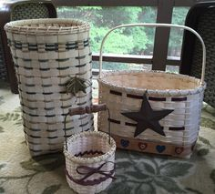 Baskets I made this summer.