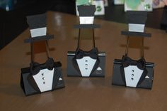 Altered Binder CLips-TUXEDO - These would be great as name placeholders or as photo centerpiece holders or even just to identify foods on a table.Scrapbook.com