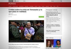 """BBC RECONOCE QUE HAY """"IMPRESIONES EXAGERADAS Y MITOS"""" SOBRE LA CRISIS EN VENEZUELA   BBC reconoce que hay impresiones exageradas y mitos sobre la crisis en Venezuela Sin dejar de admitir las dificultades que se viven en Venezuela un corresponsal de la BBC reconoce que es falso que en el país se esté viviendo una hambruna que el país se esté cubanizando que el chavismo esté desapareciendo que no haya libertad de prensa o que la gente no se entretenga.Explica que la percepción de la gente en…"""