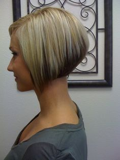 cute - I probably wouldn't go this short but really cute angled bob
