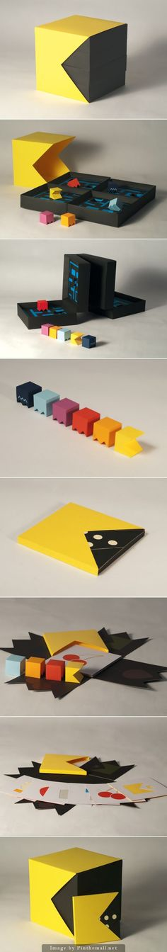 Pacman Packaging (Student Project) by Craig Sutton Papier Flat Style Graph Design, Box Design, Booklet Design, Design Ideas, Toy Packaging, Brand Packaging, Packaging Design Inspiration, Graphic Design Inspiration, Brochure Design