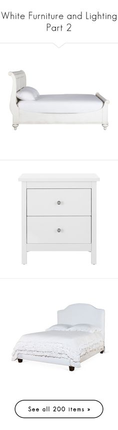 """White Furniture and Lighting Part 2"" by melzy ❤ liked on Polyvore featuring home, furniture, beds, bedroom, camas, handmade furniture, handcrafted furniture, ethan allen beds, ethan allen furniture and handmade beds"
