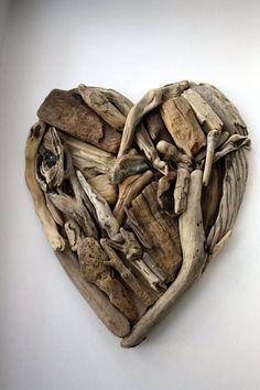 Wall Art – Driftwood heart – a unique product by yalos-alanya on DaWanda
