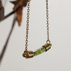 Terrarium Curve Necklace (Close-Up) | ThinkGeek