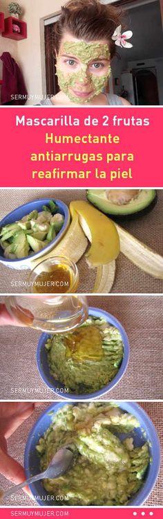 Mascarilla de 2 frutas. Humectante antiarrugas para reafirmar la piel