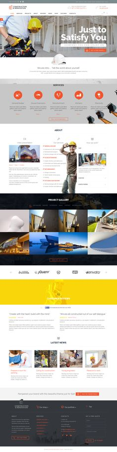 Builder Construction Architect Renovation WordPress Theme #webdesign #website Live Preview and Download: http://themeforest.net/item/builder-construction-architect-renovation-theme/11032581?ref=ksioks