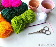 cosicasraquel: Cactus de Crochet - Tres Patrones Gratuitos !!! Knitting, Bath, 3d, Crochet Cactus, Cactus Plants, Craft, Bow Braid, Embroidery Sampler, Crochet Rugs