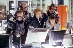 """The Lone Gunmen in """"First Person Shooter"""" season 7 episode 13 of The X-Files. The X Files, Samantha Mulder, The Lone Gunmen, David And Gillian, Fbi Special Agent, School Tv, Chris Carter, Dana Scully, Trust No One"""