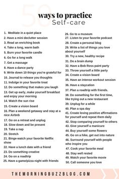 Health Motivation 50 self-care ideas to improve your mental health for when life gets tough. Love yourself, boost your mood and reduce anxiety with these simple self-care activities and self-care tips. When Life Gets Tough, Self Care Activities, Mental Health Activities, Wellness Activities, Activities For Adults, Mindfulness Activities, Health Education, Wellness Tips, Health And Wellness