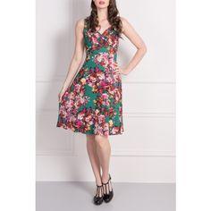 Vintage inspired Floral print sleeveless dress