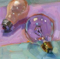 "Daily Paintworks - ""Light Bulbs"" - Original Fine Art for Sale - © Holly Storlie"