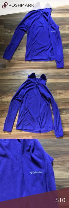 Columbia fleece The pics make it look blue but it is a deep purple color Columbia Sweaters