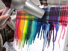 my melted crayon art project