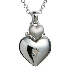 Add some Hot Diamonds sparkle to your look, with this beautiful contrasting brushed and polished silver, diamond set, heart pendant. The perfect gift for someone you love. What A Girl Wants, Christmas Wishes, Decorative Bells, Diamonds, Sparkle, Girly, Pendant Necklace, Jewels, Sterling Silver