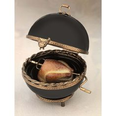 Limoges black grill with turkey box