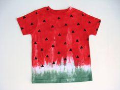 Girls or Boys Watermelon Shirt Tie Dye Toddler Tshirt  Tee. $22.00, via Etsy.
