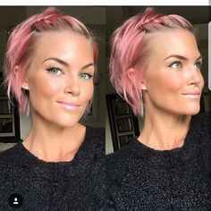 Just a great cut and color on @krissafowles doesn't she look great in the pink. I'm thinking blonde is better if want to go see look at her page . #BEEHASH  --@nothingbutpixies