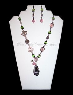 Rose Quartz, Purple Agate, Amethyst, Peridot Cat Eye via DJC - Handmade jewelry. Click on the image to see more!