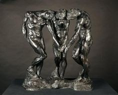 """Is it just me or does this sculpture by Rodin remind you of Beyonce and her dancing fools? """"All the single ladies.oh wait a minute."""" The Three Shades Auguste Rodin, Musée Rodin, Art Sculpture, Modern Sculpture, Rosalind Krauss, Antoine Bourdelle, Carpeaux, Rodin Museum, Famous Sculptures"""