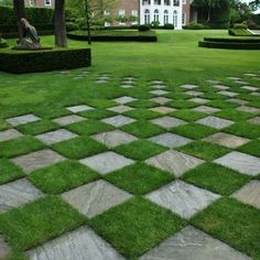 Landscape Alice In Wonderland Design ideas. I love the idea of pavers dispersing out into the lawn
