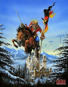 Iron Maiden - German Tour Poster - Derek Riggs - http://www.derekriggs.com