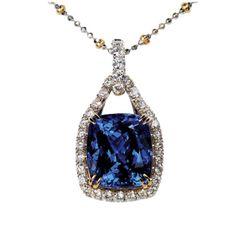 Tanzanite & Diamond Pendant from Adamant Designs   Square Market