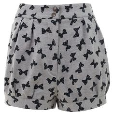 SEE BY CHLO? ZORAH GREY/BLACK COTTON E3176 ($48) ❤ liked on Polyvore featuring shorts, bottoms, pants, short, women, short shorts, cotton shorts, gray high waisted shorts, gray shorts and high waisted zipper shorts