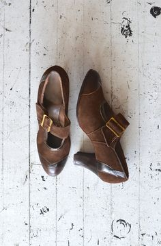 1920s shoes / vintage 20s shoes / Ganache mary jane by DearGolden, $44.00