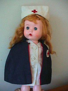 Littlest Angel Arranbee Doll Vtg Nurse Outfit Clothing Lot Cape Hat Uniform