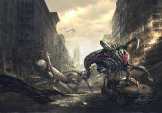 Post-Apocalyptic City   Post apocalyptic city by ~AlienTan on deviantART