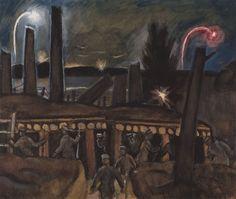 Jāzeps GROSVALDS | Latvian | Latvia 1891 – Paris, France 1920 | Post-Impressionism, Modernism.  The Riflemen, 1916–17