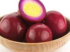 "Pennsylvania Dutch Red Beet Eggs — ""My Mother introduced this recipe to me when I was little. Every Holiday Easter, Thanksgiving & Christmas that came my Mother would make these eggs. If you love RED BEETS you will LOVE THIS! Amish Recipes, Egg Recipes, Recipies, Red Beet Eggs Recipe, Pennsylvania Dutch Recipes, Pickled Eggs, Pickled Sausage, Red Beets, Veggies"
