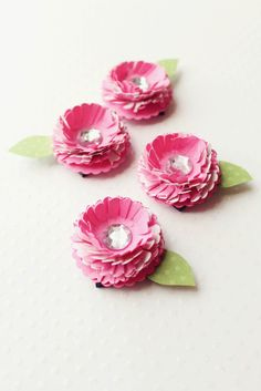 Icing Designs: paper flower magnets tutorial