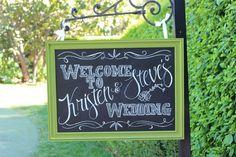 Chalkboard Sign // WEDDING // Sign Framed // CHALKBOARD // Vintage Wedding // Chalk Board Welcome Sign Decoration // CUSTOM // made to order via Etsy