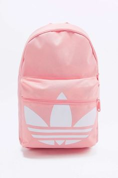 Shop adidas Originals Trefoil Pink Backpack at Urban Outfitters today. Cute Backpacks For School, Trendy Backpacks, Girl Backpacks, Red Backpack, Rucksack Bag, Backpack Bags, Adidas Originals, Mochila Jansport, Mochila Adidas