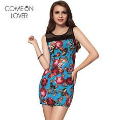 RE70056 Comeonlover Fashion beach style summer dress Ukrain floral print female vintage dress boho women sexy mini dress vestido #Affiliate
