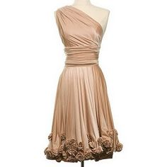 I love this so much. Two Birds bridesmaid rosette dress