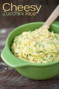 Extra Cheesy Zucchini Rice | FaveHealthyRecipes.com Zucchini season is almost upon us so here's a new way to use some of it up. Sounds like it might be good