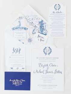 colored map  To see more gorgeous details about this wedding: http://www.modwedding.com/2014/11/19/ethereal-chesapeake-bay-wedding-erich-mcvey-photography/ #wedding #weddings #wedding_invitation
