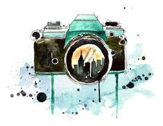 camera-watercolor-painting-photography-artwork-photography-home-decoration-vintage-camera-photo-lens-photography-gifts-photo-camera/ - The world's most private search engine Art Mural, Wall Art, Anchor Art, Camera Art, Camera Lens, Camera Decor, Camera Painting, Camera Drawing, Watercolor Art