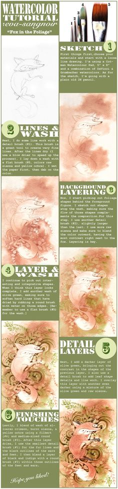 Watercolor Tutorial by eva-sangnoir.deviantart.com on @deviantART