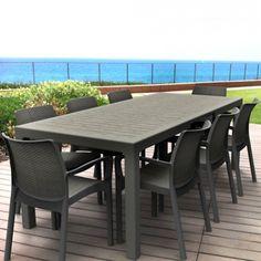 Genial Salon De Jardin: Table Sonata 1M62/2M15 Graphite + 8 Fauteuils Bali  Regarding Salon De Jardin Oogarden