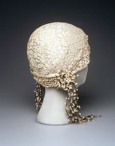 French wedding cloche; c 1932