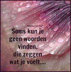 Soms kun je geen woorden vinden die zeggen wat je voelt..  #Vkracht